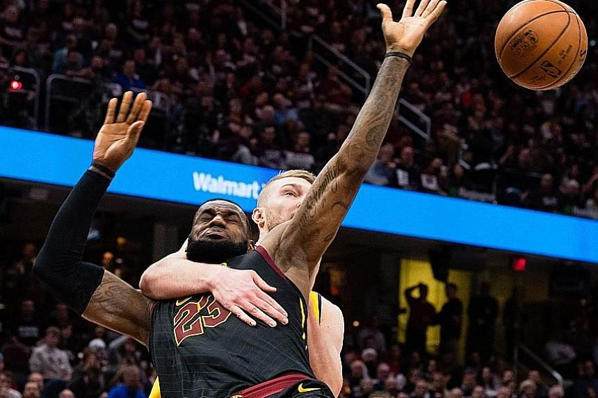 A flagrant foul, as Domantas Sabonis of the Indiana Pacers demonstrates, seems to be the only way to stop LeBron James. The Cleveland Cavaliers forward's 46 points on Wednesday, nearly half his team's total, helped level the Eastern Conference series