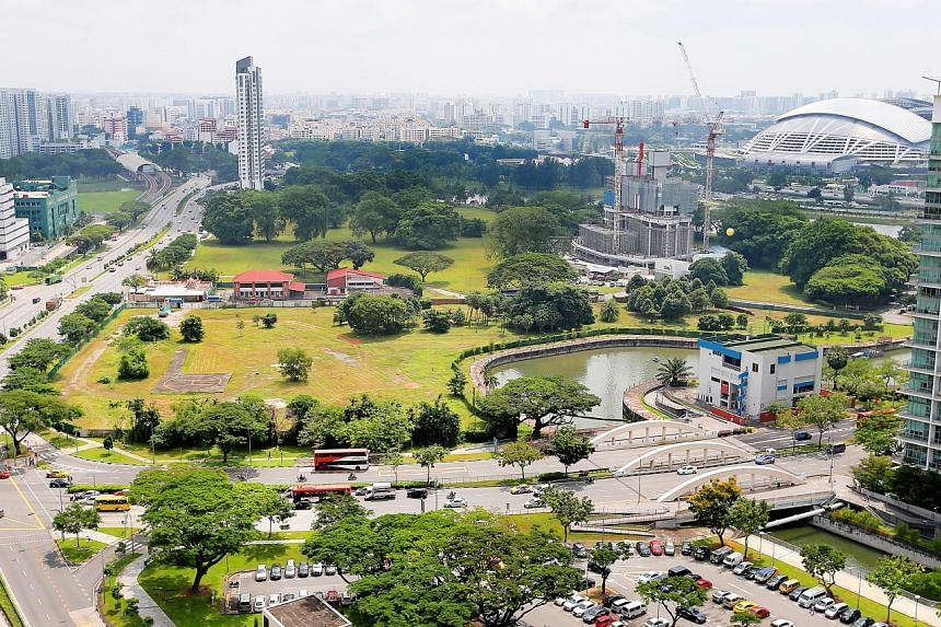 The tender to conduct remediation works on the site of Kallang Gasworks (left), which manufactured gas using coal before ceasing operations in 1998 and occupied 3.14ha, is part of preparations for the redevelopment of Kampong Bugis district (right).
