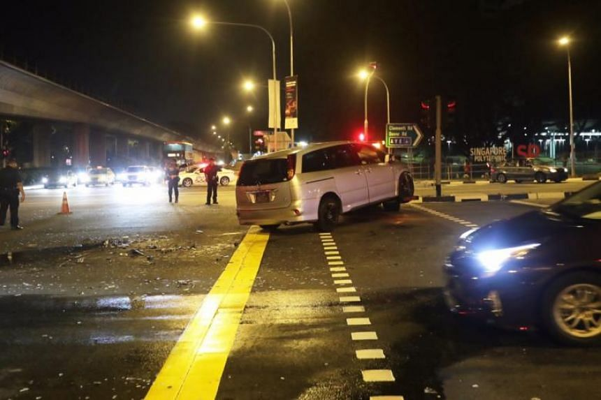 SCDF said that it responded to the traffic accident at about 7.30pm.