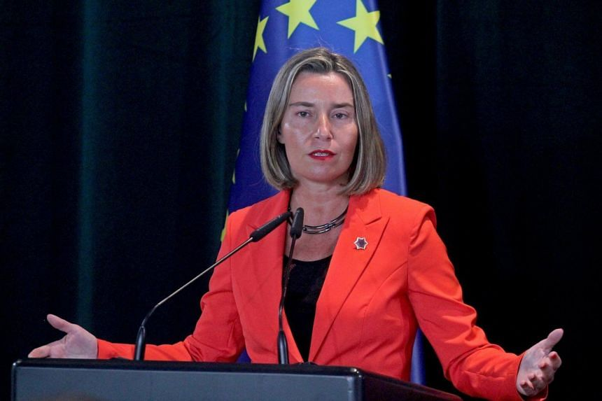 EU foreign affairs chief Federica Mogherini said in a statement she regretted the way the authorities under President Nicolas Maduro had called the May 20 presidential elections.