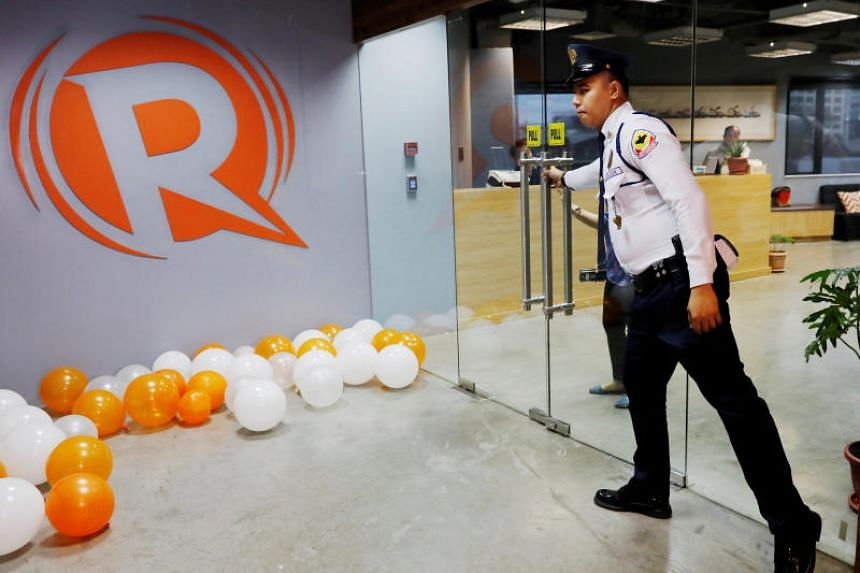 The office of news website Rappler in Pasig, Philippines, on Jan 15, 2018. Rappler's corporate license was cancelled over claims that they violated foreign ownership laws.