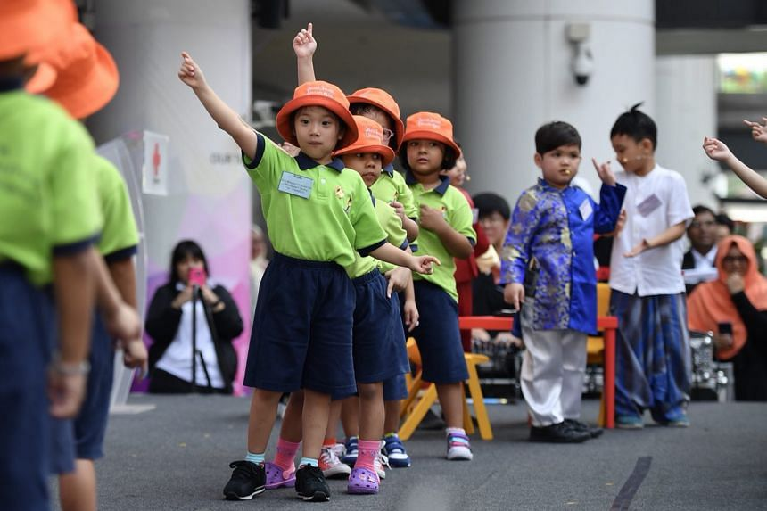 Children from Kidz Meadow performing a dance during the launch.