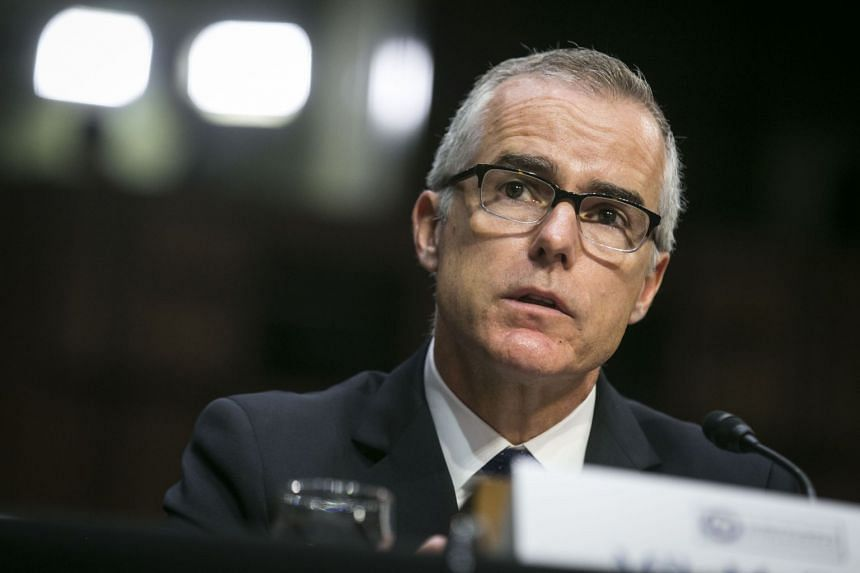 Andrew McCabe during a Senate Intelligence hearing on Capitol Hill in Washington in 2017.