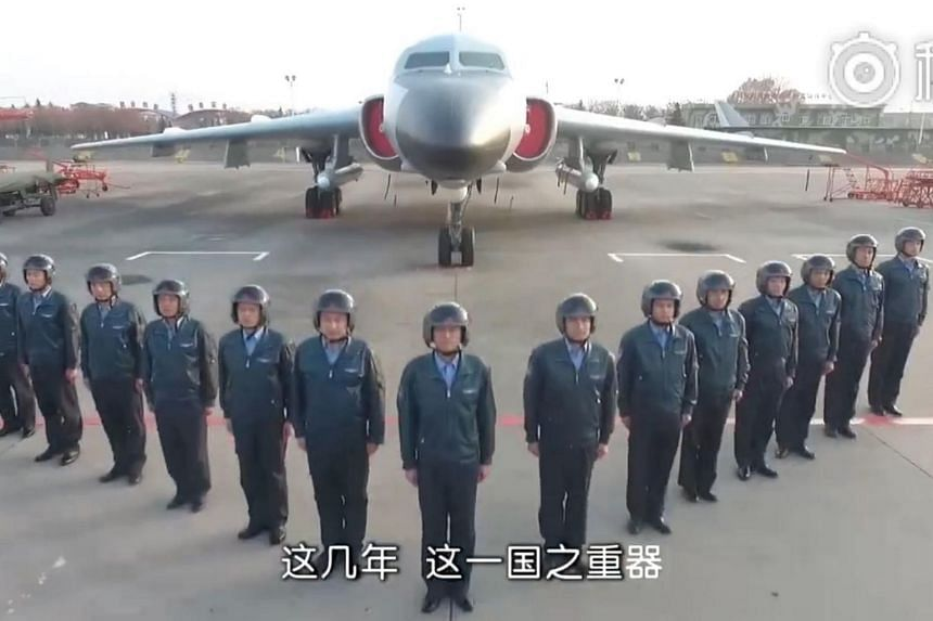 In the latest salvo fired by China, the air force unveiled on its Weibo account a Hokkien version of an earlier video called God Of War, which shows H-6K bombers flying over the South China Sea and near to Taiwan.