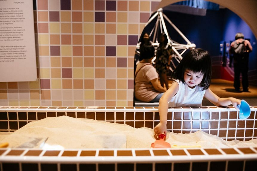 An interactive installation titled Building A Singapore Playground.