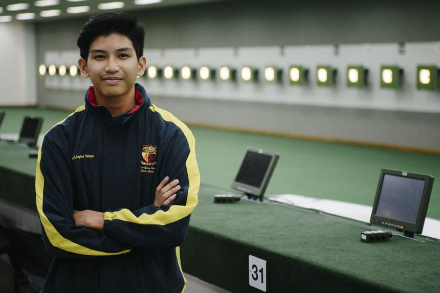 Marat Veloso, the only competitor from ACS (Barker Road) and younger brother of double Commonwealth Games champion Martina, won the 10m air rifle with 248.2 points.
