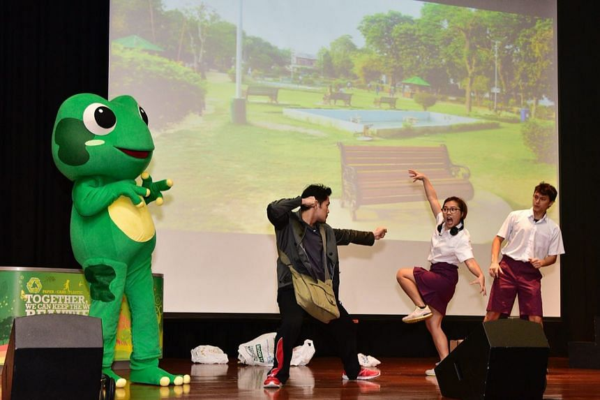 An interactive skit titled 'Fast Forward to 2030' offers students a fun and immersive learning experience about climate action.