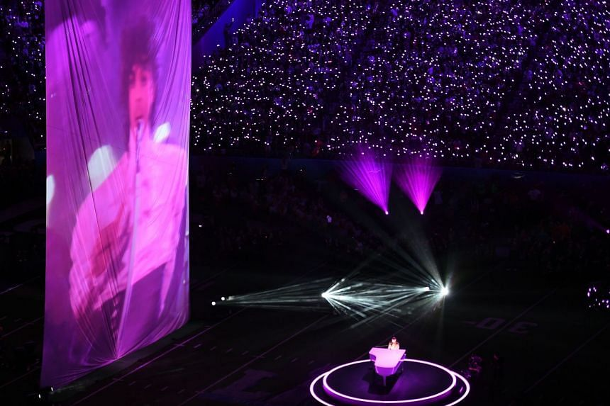 Singer Justin Timberlake pays tribute to Prince in the late singer's hometown of Minneapolis on Feb 4, 2018.
