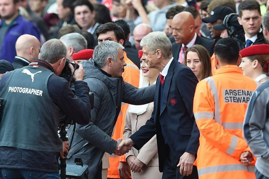 """Manchester United boss Jose Mourinho has been critical of Wenger in the past, labelling him a """"specialist in failure"""", but the Portuguese said those previous remarks are now irrelevant as the pair share mutual respect off the field."""