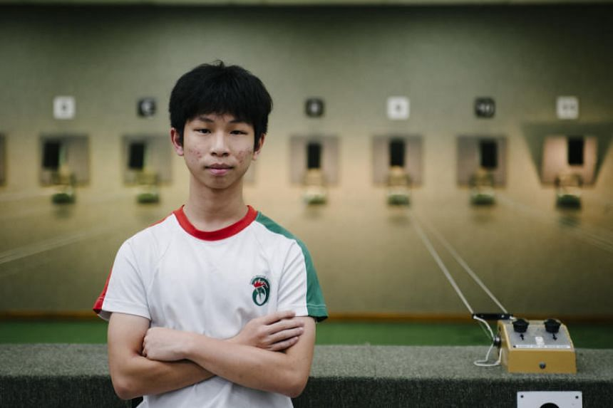 Ahmad Ibrahim's Bryon Lim (pictured) claimed the gold with 236.9 points, finishing ahead of Anglo-Chinese School (Independent)'s Niu Houji (229.6 points) and Raffles Institution's Justin Chia (218.7).