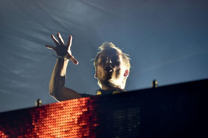 Avicii (Tim Bergling) performing in Malmo, Sweden in 2016.