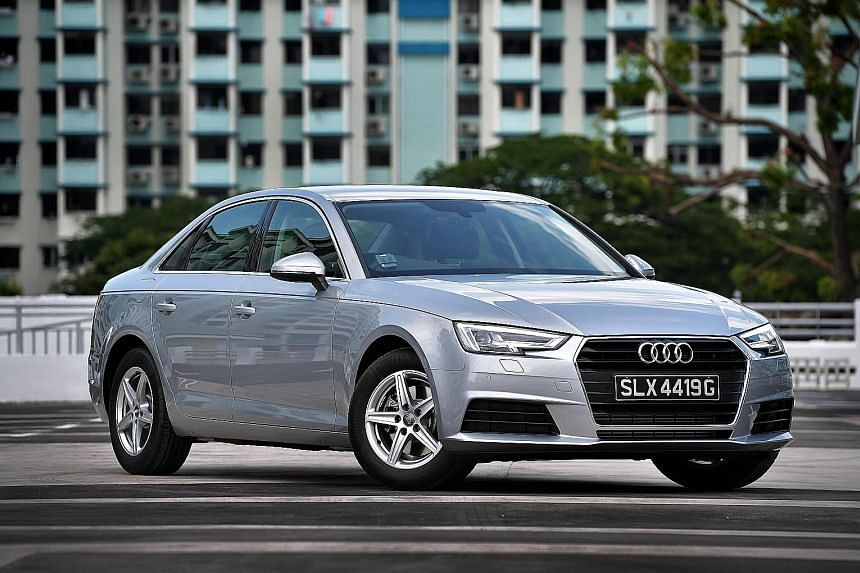 The Audi A4 is equipped with a 2-litre B-cycle engine, offering a lively and punchy drive.