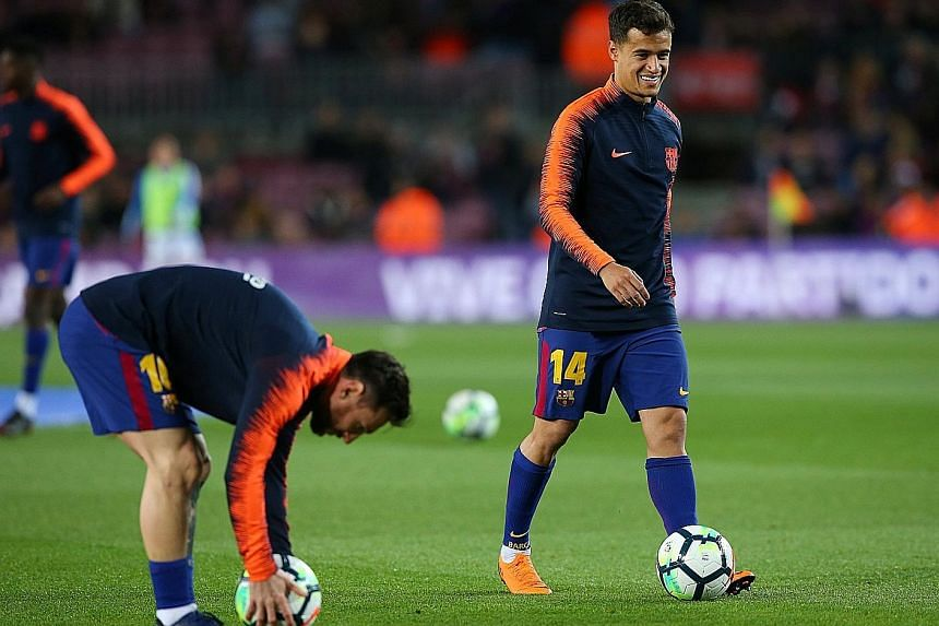 Barcelona's Philippe Coutinho (right, with Lionel Messi) says the most important thing is to think about how they have to play and what they should do to win today.