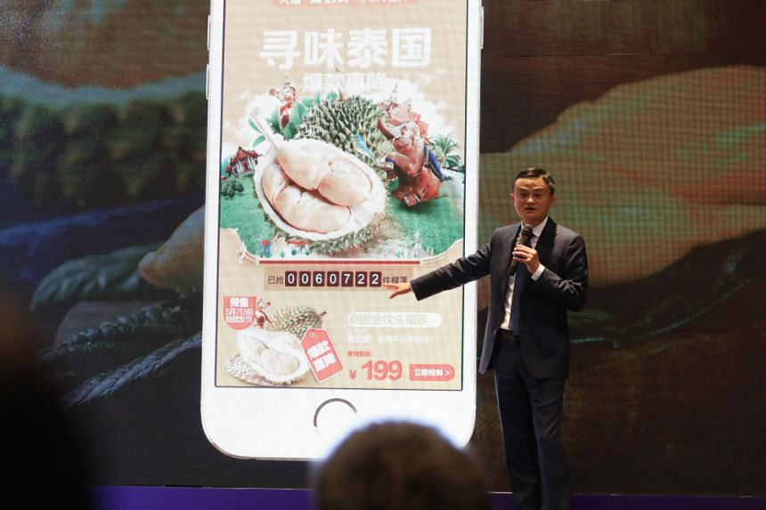 Mr Jack Ma said at a press interview in Bangkok that during the pre-order two days before the launch, there were over 60,000 orders and immediately 40,000 durians were sold. The number rose to 80,000 within a minute.