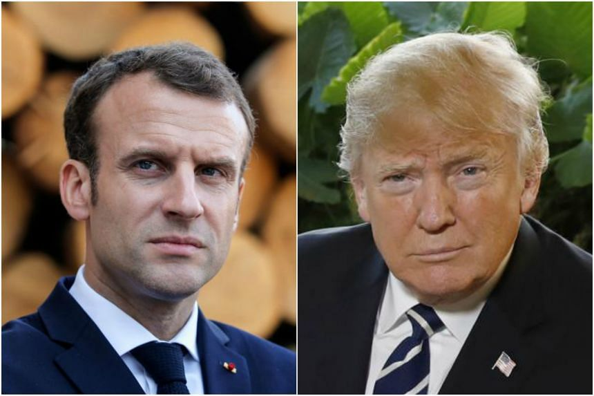 US President Donald Trump (right) and First Lady Melania have invited French President Emmanuel Macron (left) and his wife Brigitte for a private dinner at Mount Vernon.