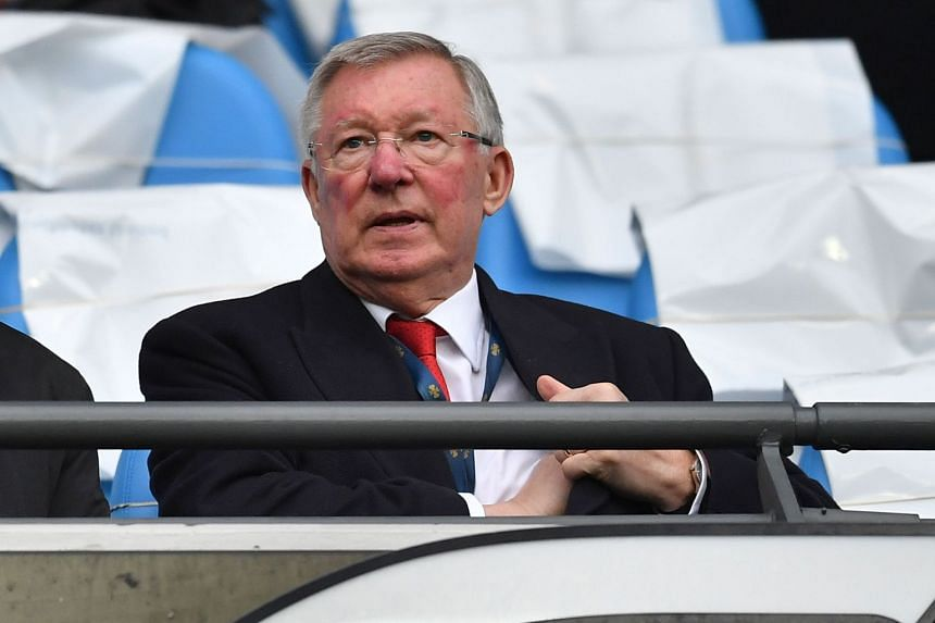 Ferguson watching Manchester United play Manchester City at the Etihad Stadium, on April 7, 2018.