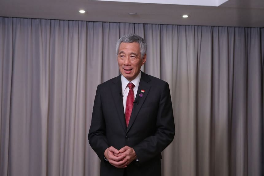 PM Lee Hsien Loong at an interview with Singapore media at the end of his trip to London for the Commonwealth Heads of Government Meeting, on April 20, 2018.