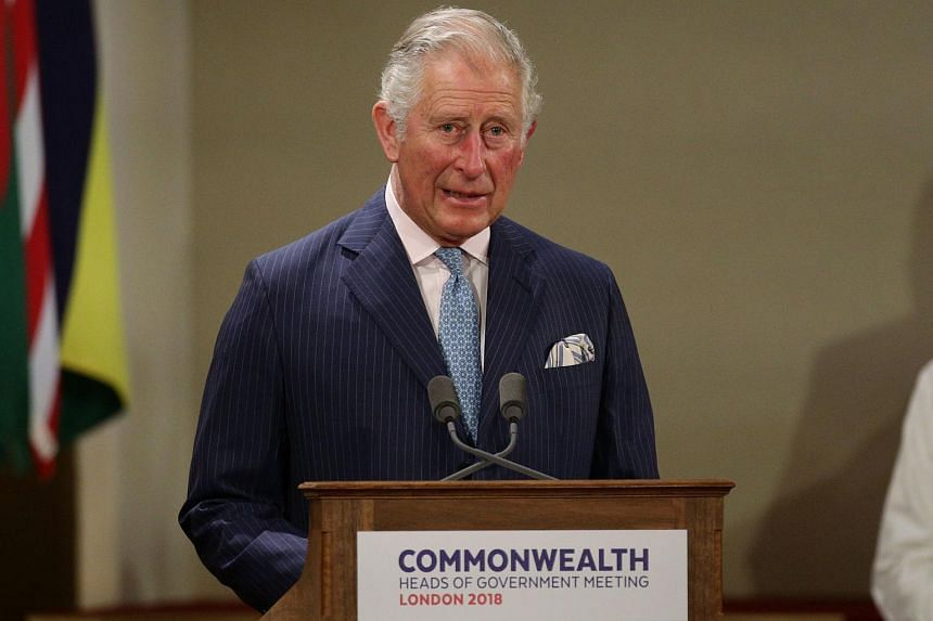 Britain's Prince Charles, Prince of Wales, speaking at the formal opening of the Commonwealth Heads of Government Meeting at Buckingham Palace in London, on April 19, 2018.