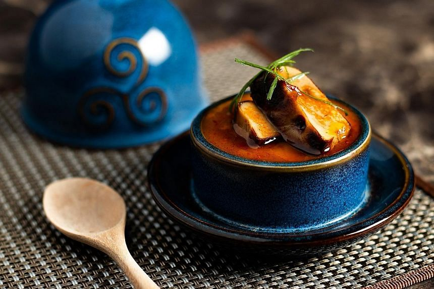 Its Asian-influenced omakase menu offers items such as Mapo Chawanmushi.
