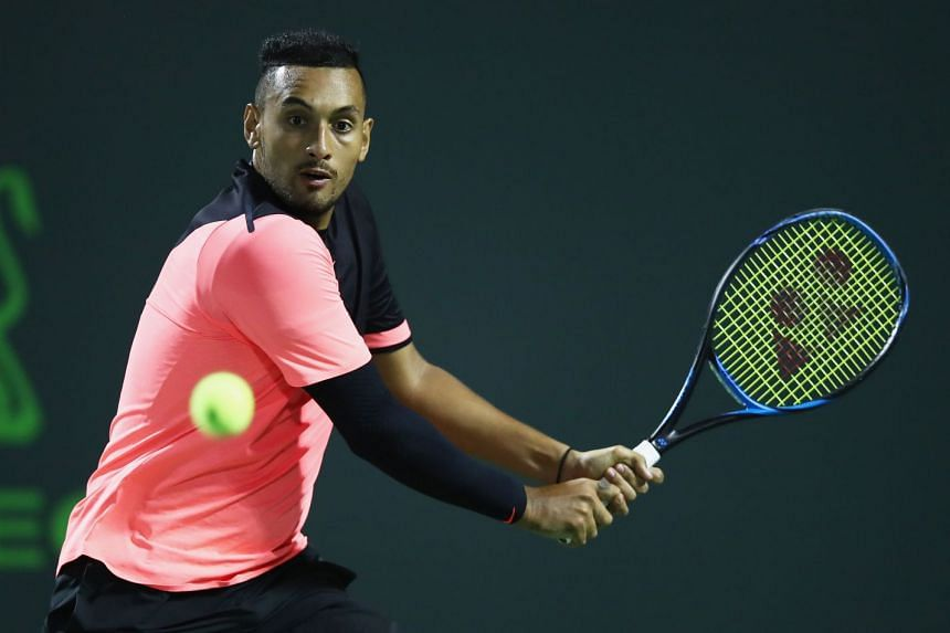 Kyrgios says he has been suffering with an elbow injury since February's Davis Cup clash against Germany.