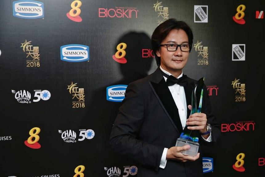 Chen Hanwei with his Best Supporting Actor award.