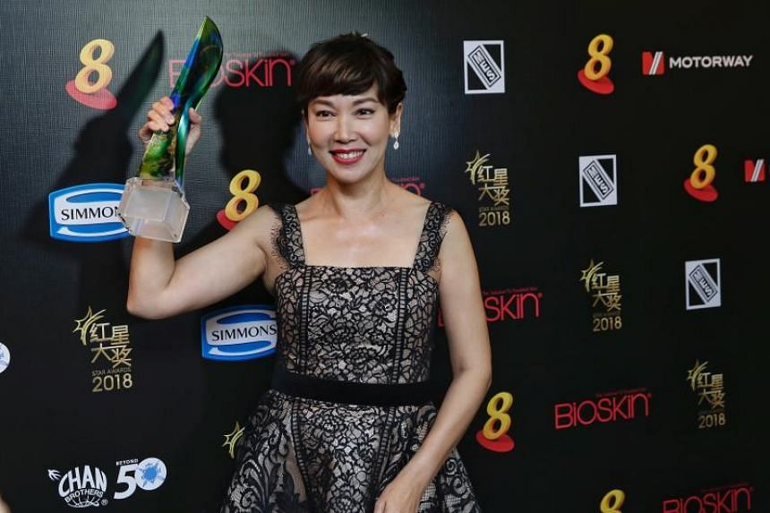 Kym Ng won her first acting award, for Best Supporting Actress, at the Star Awards 2018.