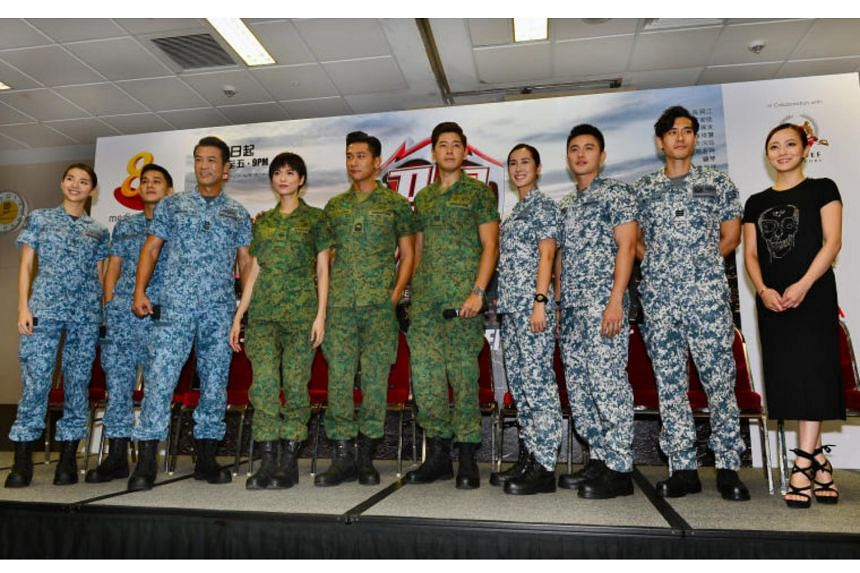 When Duty Calls (cast pictured) took home four trophies, including Best Drama Series and Best Theme Song at the Star Awards 2018.