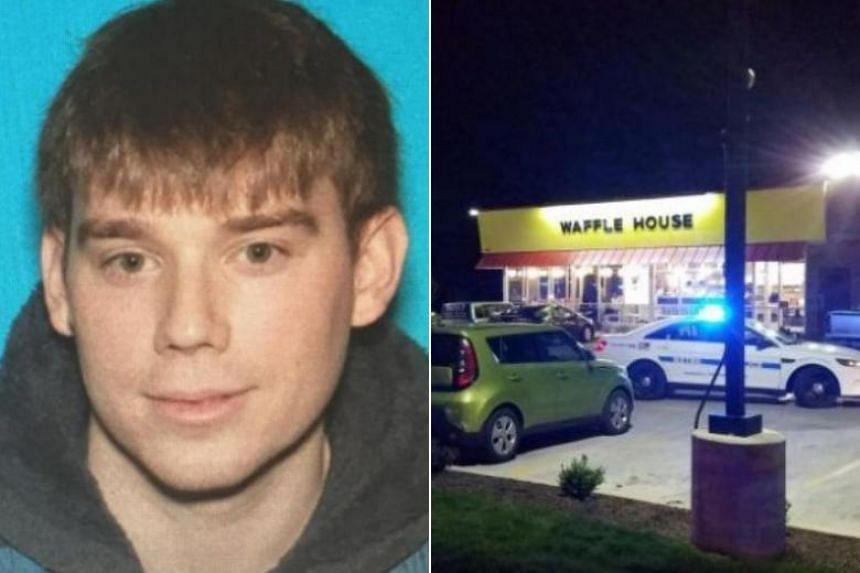 Police in Tennessee are searching for Travis Reinking, who is wanted in connection with the shooting at a Waffle House restaurant near Nashville, Tennessee on April 22, 2018.