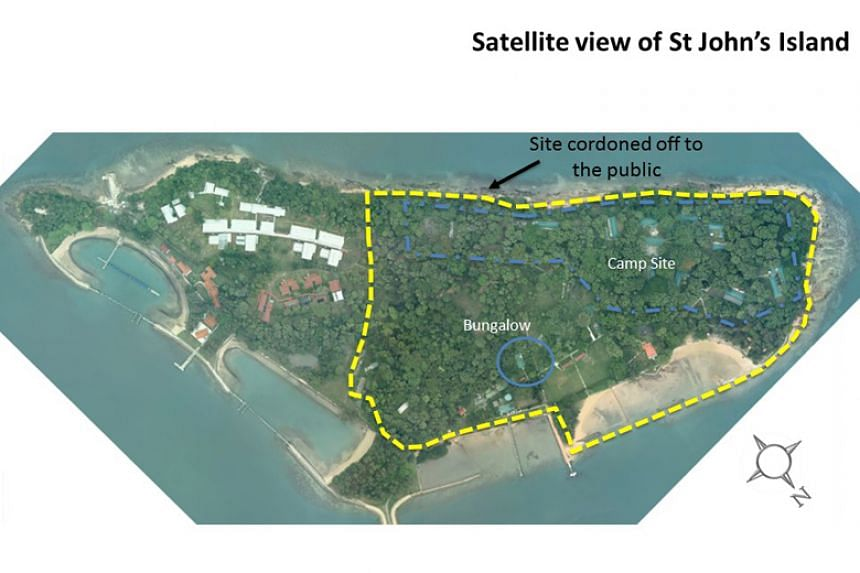 Traces of asbestos had been detected on April 16, 2018, in construction debris around St John's Island's campsite, lagoon and holiday bungalow area.