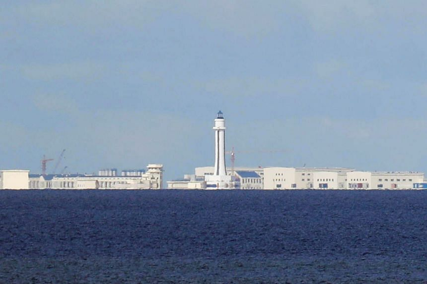 Chinese structures are pictured at the disputed Spratlys in South China Sea.Building consensus between Asean countries has become a tall order on sensitive security issues, such as the South China Sea.