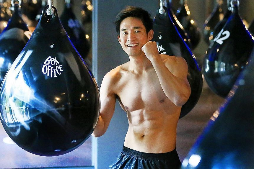 "Fitness instructor Abel Marcus Koh opened Box Office Fitness gym with his girlfriend in February and teaches at the gym. The 31-year-old, who attends classes there when he is not teaching, says ""working out makes me feel confident and always puts me"