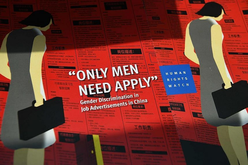 A new report - Only Men Need Apply - by Human Rights Watch on discriminatory job advertisements in China.