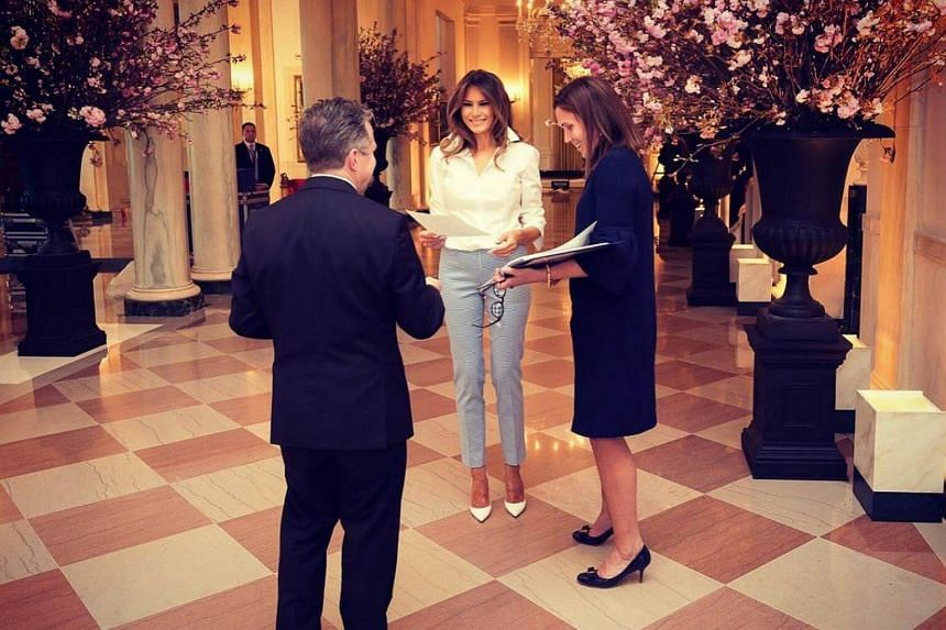 The First Lady and her staff have spent months preparing for the event and the White House released pictures and a 38-second video of Melania Trump overseeing the details.
