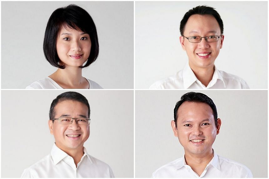 MPs (clockwise from top left) Sun Xueling, Tan Wu Meng, Zaqy Mohamad  and Edwin Tong will join the Government.