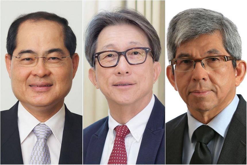 (From left) Mr Lim Hng Kiang, Mr Lim Swee Say and Dr Yaacob Ibrahim will step down as Minister for Trade and Industry (Trade), Minister for Manpower and Minister for Communications and Information, respectively.