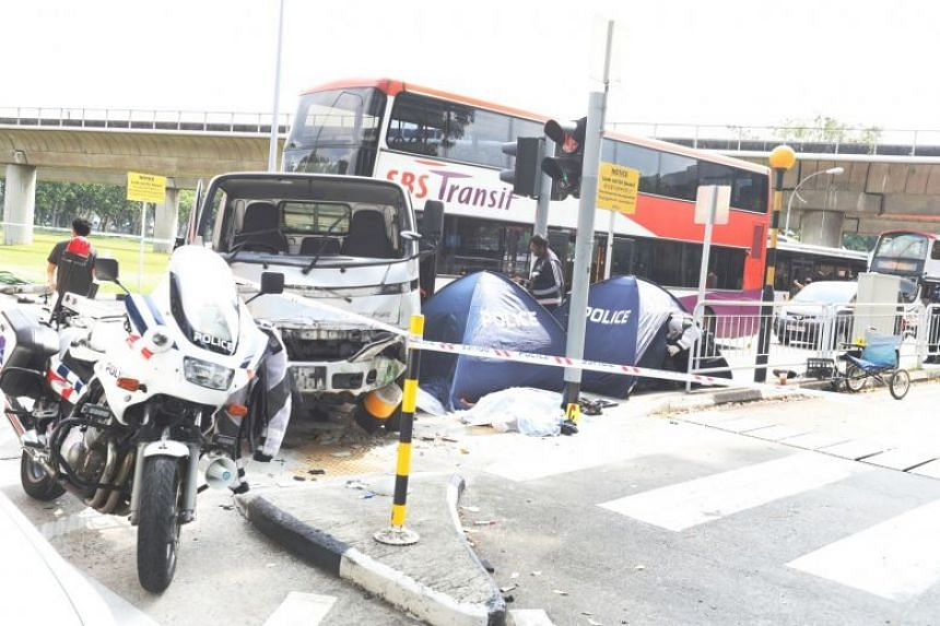 Xu Kai Xiang is said to have failed to maintain proper control of his lorry, which mounted a kerb and hit some railings before ploughing into pedestrians.