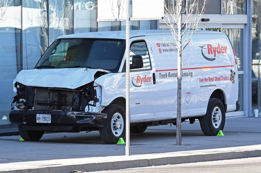 Alek Minassian was arrested 26 minutes after he allegedly drove a white rental van into a crowd in the north end of Toronto.