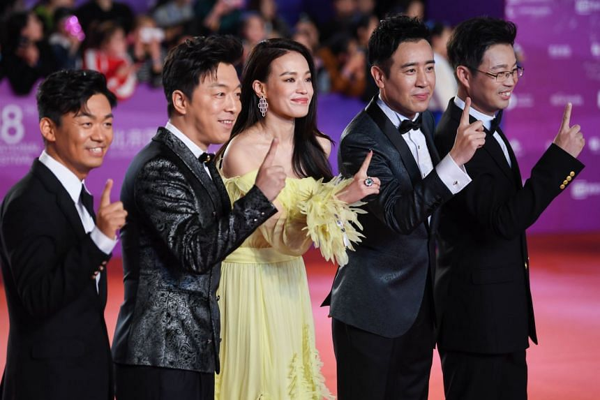 Chiling Lin and Shu Qi (above) were among the stars at the closing ceremony of the Beijing International Film Festival on Sunday.