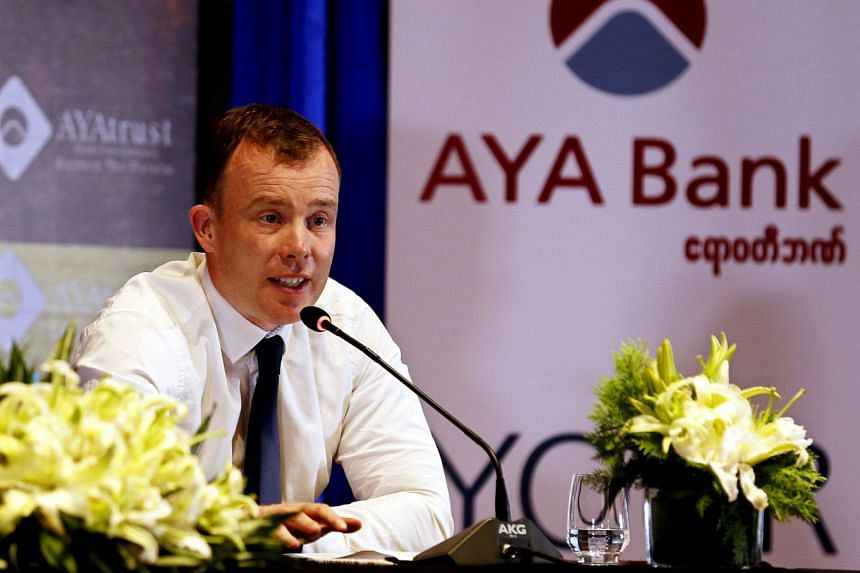 Leeds managing director Angus Kinnear speaking during a press conference in Yangon.