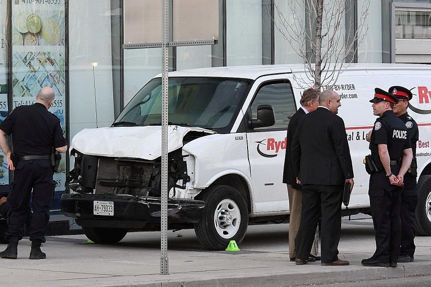 A 25-year-old is believed to have deliberately driven a van into a crowd in Toronto, Canada, on Monday.