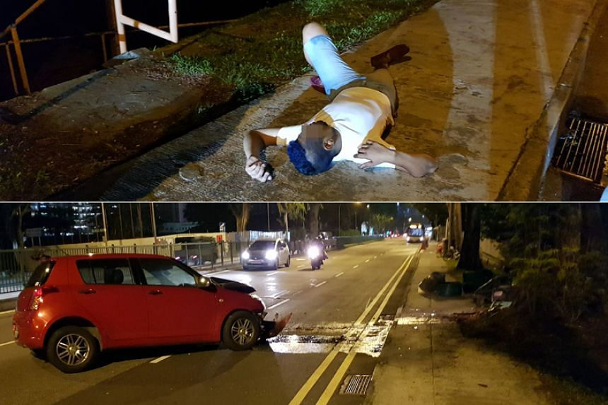The police were alerted to the accident in Balestier Road, towards Thomson Road, at 12.33am on April 25, 2018.