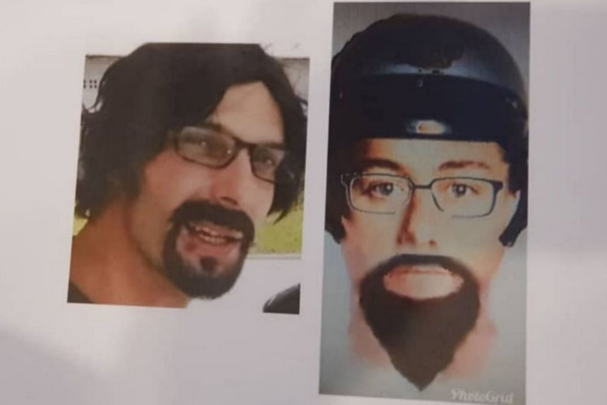 An image of one of the suspects was obtained after a high-powered motorcycle, believed to have been used as a getaway vehicle, was found.