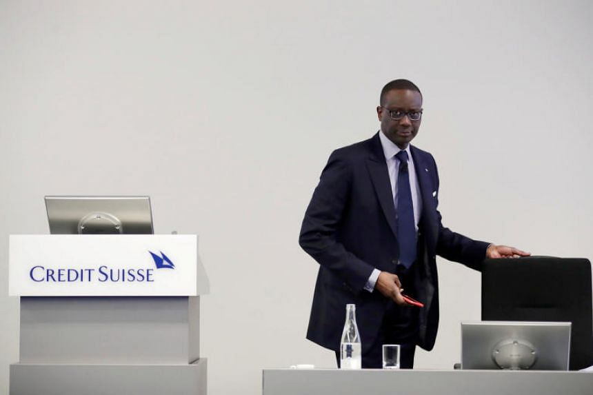 Credit Suisse chief executive Tidjane Thiam awaits a news conference to present the company's full-year results in Zurich on Feb 14, 2018.