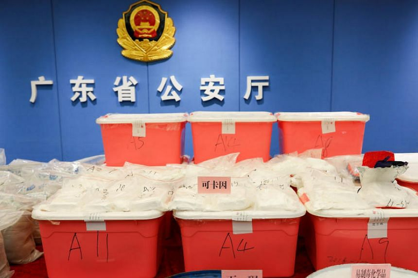 The drug came from an unidentified South American country and was shipped to the Guangdong port of Shanwei.