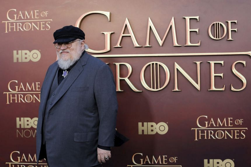 George RR Martin arriving for the season premiere of HBO's Game Of Thrones in 2015.