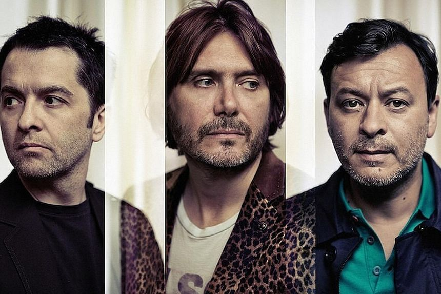 Manic Street Preachers' members (from left) Sean Moore, Nicky Wire and James Dean Bradfield.