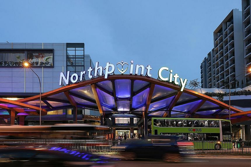 Gross revenue for the second quarter rose 6.3 per cent year-on-year, due mainly to the end of renovations at Northpoint City North Wing.