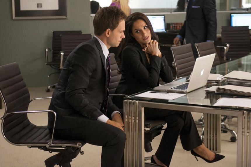 US legal drama Suits, starring Patrick J. Adams (left) and Meghan Markle.