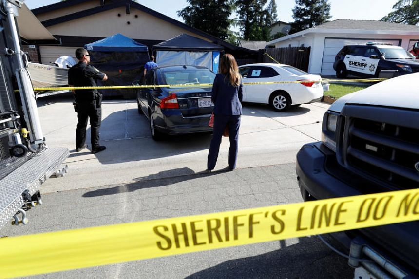 The suspect was identified as Joseph James DeAngelo, 72, an elderly former police officer, who was taken into custody outside his home in a suburb in Sacramento, California.