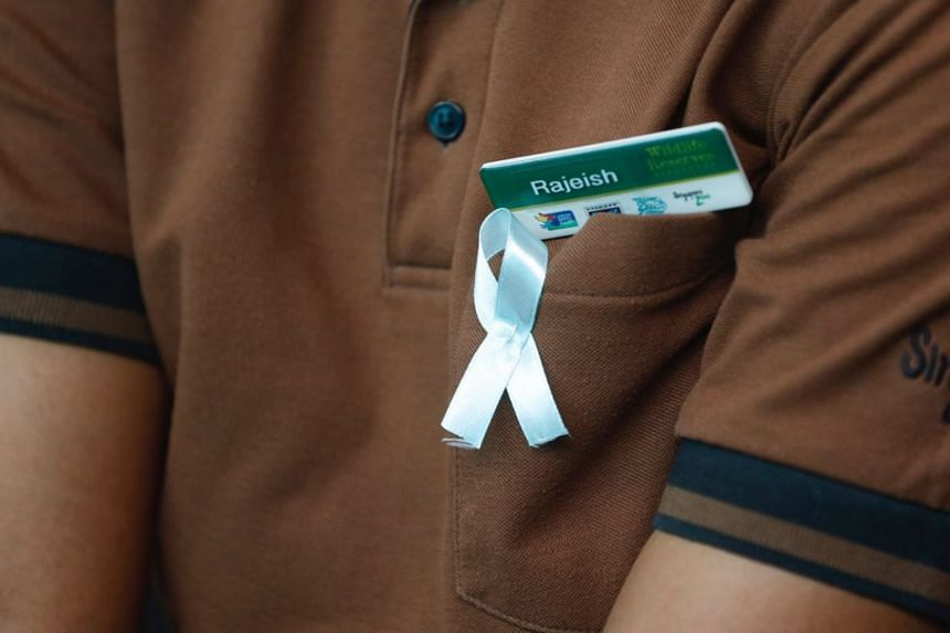 A commemorative ribbon worn by a member of the audience at Inuka's tribute ceremony.